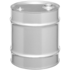 """10 Gallon Tight Head Stainless Steel Drum, UN Rated, 2"""" & 3/4"""" Fittings"""