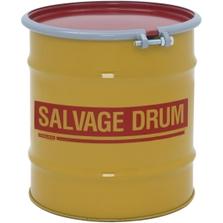 20 Gallon Steel Salvage Drum, Cover w/Bolt Ring Closure