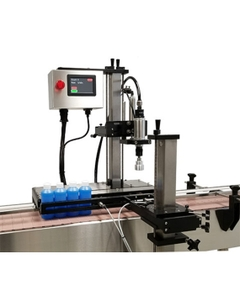 """Pneumatic Automatic Bottle Capping Machine (10-130mm) Max ht. 17"""""""