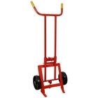 "Economy Drum Truck,10"" Polyolefin Wheels (for Steel Drums)"