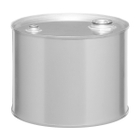 """5 Gallon Tight Head Stainless Steel Drum, UN Rated, 2"""" & 3/4"""" Fittings"""