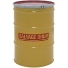 55 Gallon Steel Salvage Drum, Cover w/Lever Lock Ring Closure (16/18 Gauge)
