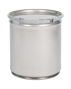 5 Gallon Stainless Steel Drum, Food Grade, Cover w/Lever Lock