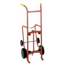 "Drum Drainer Truck, 10"", 6"" Moldor Rubber Wheels (for Steel Drums)"