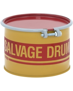 5 Gallon Steel Salvage Drum, Cover w/Bolt Ring Closure, Lined