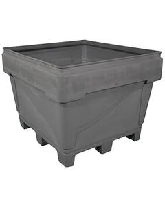 ArmorBin® 3036 - 229 Gallon Heavy Duty Bin, 4-Way Replaceable Base (Gray)