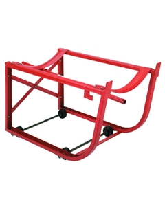 Steel Drum Cradle with Polyolefin Wheels Inside Frame