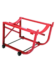 Steel Drum Cradle with Polyolefin Wheels Outside Frame