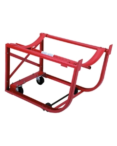 Steel Drum Cradle with Polyolefin Wheels Inside Frame and 2 Swivel Casters