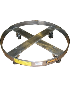30 & 55 Gallon Aluminum Drum Dolly, Rubber Casters (900 lb. Capacity)