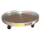 30 & 55 Gallon Aluminum Drum Dolly, Swivel Rubber Casters (900 lb. Capacity)