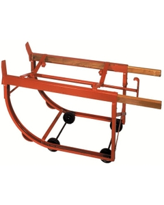 Wood and Steel Drum Cradle for Single Drum with Polyolefin Wheels Inside Frame