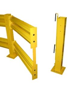 Double Rail Hinge Assembly, Heavy Duty Guard Rails