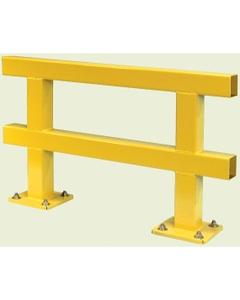 """6' x 15"""" Heavy Duty Single Guard Rail, Yellow, 7 Gauge Steel"""