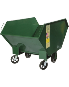1 Cu. Yd. Green Steel Chip and Waste Truck, 2,000 lb. Capacity