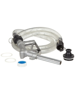 """8' PVC Hose Kit, Aluminum Nozzle, 2"""" Female NPT Adapter, for Drums or IBC Totes"""