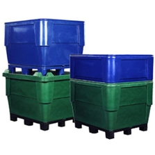 315 Gallon Natural Heavy Duty Bin, 4-Way Replaceable Base, Poly Combo 1148
