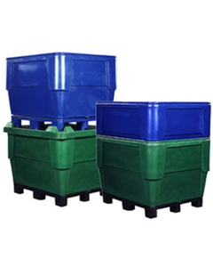 396 Gallon Natural Heavy Duty Bin, 4-Way Replaceable Base, Poly Combo 1154