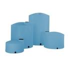 "2,500 Gallon Blue HDPE Vertical Storage Tank (Heavy Weight), 95"" x 91"""