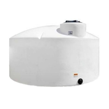 "87"" x 53"" 1,100 Gallon White HDPE Vertical Storage Tank"