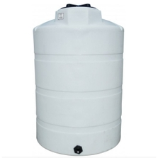 500 Gallon White HDPE Vertical Storage Tank