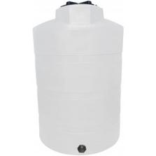 "1,000 Gallon White HDPE Vertical Storage Tank, 64"" x 80"""