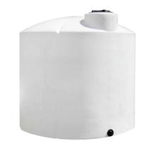 6,500 Gallon White HDPE Vertical Storage Tank