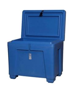 Polar® PB11HL - 82 Gallon Insulated Bin w/Hinged Lid, Castors & Drain (11 cu. ft.)