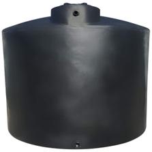 "2,500 Gallon Black HDPE Vertical Water Storage Tank, 95"" x 91"""