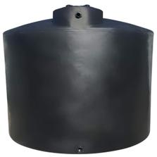"3,000 Gallon Black HDPE Vertical Water Storage Tank, 95"" Dia. x 109"" H"