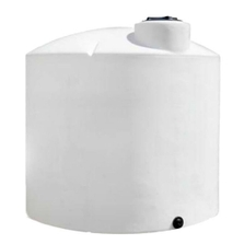 6,100 Gallon White HDPE Vertical Storage Tank