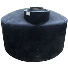 1,100 Gallon Black HDPE Vertical Water Storage Tank