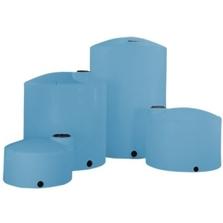 3,000 Gallon Blue HDPE Vertical Storage Tank (Heavy Weight)