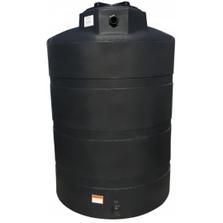 "1,000 Gallon Black HDPE Vertical Water Storage Tank, 64"" x 80"""