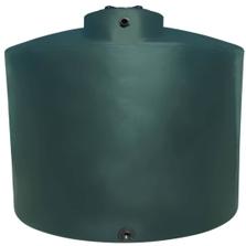 "3,000 Gallon Dark Green HDPE Vertical Water Storage Tank (California Version), 95"" Dia. x 109"" H"