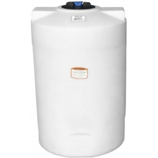 100 Gallon White HDPE Vertical Storage Tank