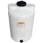 25 Gallon White HDPE Vertical Storage Tank