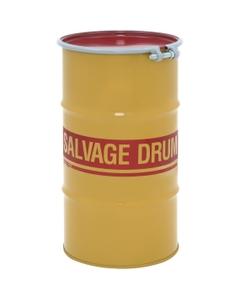 16 Gallon Steel Salvage Drum, Cover w/Bolt Ring Closure