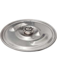 """22-1/2"""" 304 Stainless Steel Lid w/ 3"""" Fusible Cap In Center for IBC Tanks"""