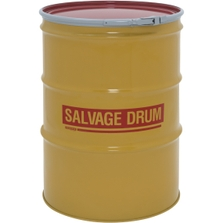 85 Gallon Steel Salvage Drum, UN-Rated, Unlined, 19GA, Cover w/Lever Lock Ring