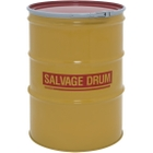 85 Gallon Steel Salvage Drum, UN-Rated, Unlined, 18GA, Cover w/Lever Lock