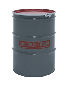 85 Gallon Steel Salvage Drum, UN-Rated, Unlined, 20GA, Cover w/Bolt Ring