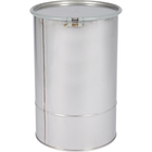 15 Gallon Stainless Steel Drum, UN Rated, Cover w/Bolt Ring Closure