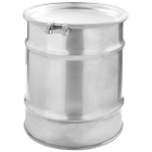 30 Gallon Stainless Steel Drum, UN Rated, Bolt Ring