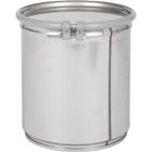 4 Gallon Stainless Steel Drum, UN Rated, Cover w/Bolt Ring Closure