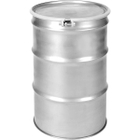 55 Gallon Stainless Steel Drum, UN Rated, Bolt Ring