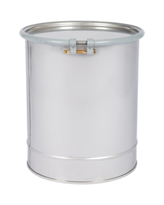 10 Gallon Stainless Steel Drum, UN Rated, Cover w/Bolt Ring Closure