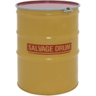 110 Gallon Steel Salvage Drum, UN Rated, Unlined, 16GA, Cover w/Bolt Ring Closure