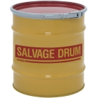 20 Gallon Steel Salvage Drum, Cover w/Lever Lock Ring Closure