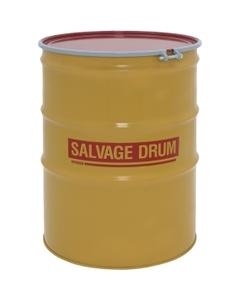 110 Gallon Steel Salvage Drum, Cover w/Bolt Ring Closure